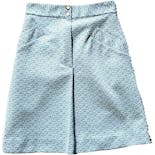 70's Blue Textured Mini Skirt by Knit-Ins