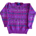 90's Purple Fair Isle Wool Sweater by Ralph Lauren
