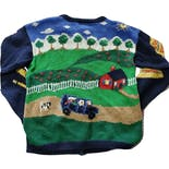 another view of 90's Cottage Print Knit Cardigan by The Eagle's Eye