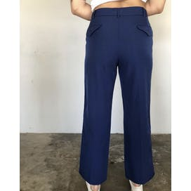 Navy Blue Military Wool Pants with Red Stripe Down Side by Military