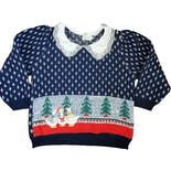 80's Christmas Collared Sweater Goose Fair Isle by Sweater Loft