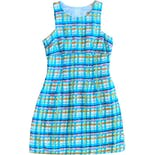 90's Colorful Textured Plaid Dress by Rampage