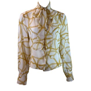Chain Print Blouse by First Issue/liz Claiborne