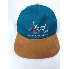 90's Jockey Or Nothing Suede Embroidered Stick Figure Adjustable Strapback Hat by Jockey
