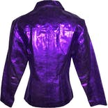 another view of 90's Metallic Purple Leather Jacket by Maxima By Wilsons