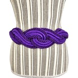 Purple Woven Rope Belt