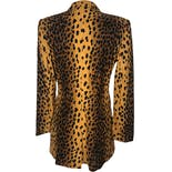 another view of 90's Cheetah Print Long Blazer Jacket by Alberto Makali For Caché