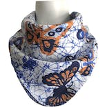 Blue and Orange Butterfly Print Scarf