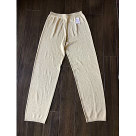 Gold Lurex High Waist Pants by Yarnworks