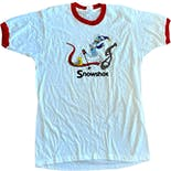 80's Snowshoe Graphic Ringer Tee by Screen Stars