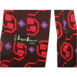 another view of 60's French Colorful Mod Psychedelic Silk Necktie by Jacques Leonard Paris