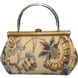 another view of 60's Floral Fabric Bag by Ronay