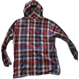 another view of 50's/60's Plaid Hooded Half Zip Jacket by Handmade