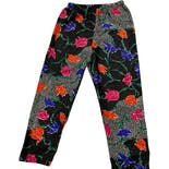 80's Colorful Silky Floral Pants