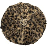 Leopard Fur Mini Beret Hat