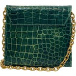 another view of Green Alligator Chain Bag by Jill Stuart
