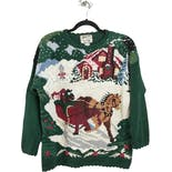 Horse and Sleigh Christmas Sweater by Heirloom Collectables