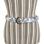 Blue and White Floral Belt