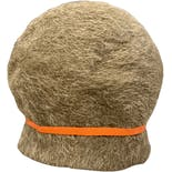 another view of 60's Tan Mohair Burcket Hat with Orange Accent by Leslie James