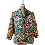 70's Floral Quilted House Coat by Evelyn Pearson