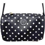 another view of 80's Leather Polka Dot Shoulder Bag by Liz Claiborne Accessories