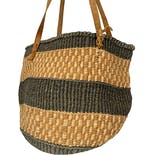 another view of Handmade Raffia Woven Tote