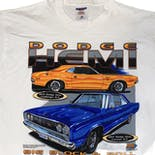 another view of 90's Dodge Hemi Big Block and Roll T-Shirt by Jerzees