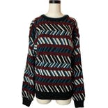 80's/90's Pattern Stripe Acrylic Sweater Nwt by Botany 500