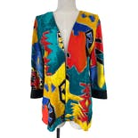 Multicolor Abstract Print Blazer