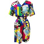 90's Fun Novelty Print Short Set by Carol Anderson