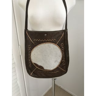 70's Cowhide Leather Purse