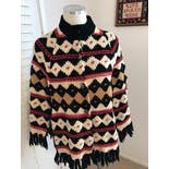 another view of Indian Fringe Sweater Knit Cape