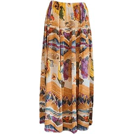 80's Autumn Bounty Midi Skirt