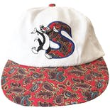 90's Looney Tunes Sylvester White Red Plaid Baseball Cap Flaws by Fresh Caps