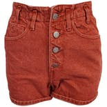 80's Stone Acid Wash Denim Red High Waist Shorts by Guess
