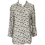 Black and White Plaid snd Floral Button Up Shirt by Guess