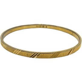 90's Etched Gold Bangle by Monet