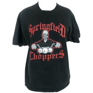 Springfield Choppers Simpsons Graphic T-Shirt by Delta Pro Weight