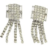 50's Rhinestone Chandelier Clip-On Earrings by Weiss