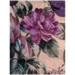 another view of Champagne Colored Scarf with Purple Tulips and Chrysanthemums by Adrienne Vittadini