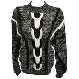 Black and Grey Knit Sweater by La Meilleure