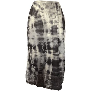 Black and Gray Tie Dye Slip Skirt