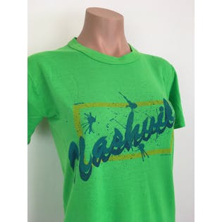 80's Green Nashville Graphic Print T-Shirt by Faucon
