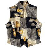 Vintage Paolo Santini Luxury Tings Silk Vest by Paolo Santini