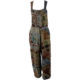 80's Earth Toned Patch Overalls