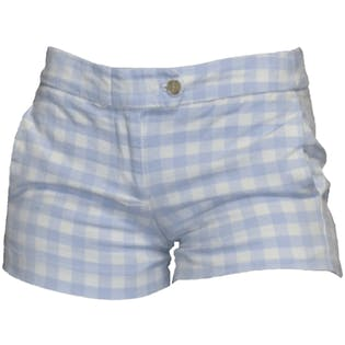 Periwinkle Blue Checkered Shorts by J Crew