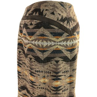 Aztec Fit and Flare Wool Trumpet Skirt by Pendleton Woolen Mills