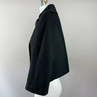 50's Black Cropped Evening Jacket by Sedors
