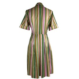 50's Pastel Stripped Mid Century Day Dress by Cay Artley