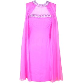 60's Pink Chiffon Party Dress
